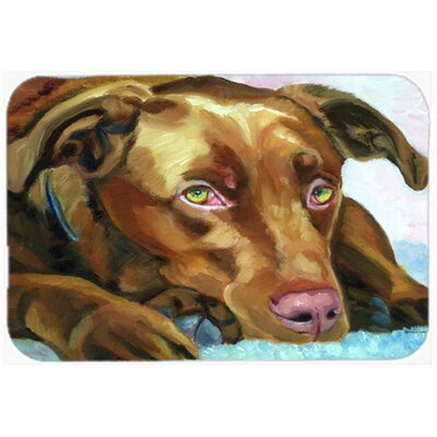 Labrador Waiting Kitchen/Bath Mat Size: 20 W x 30 L
