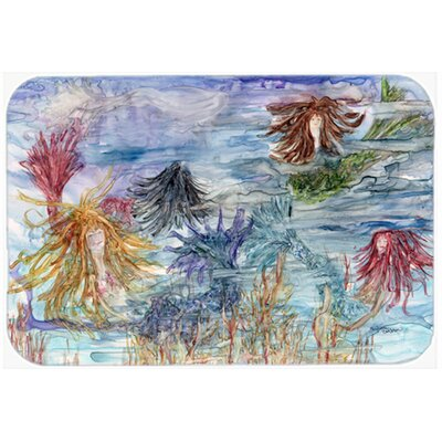 Abstract Mermaid Water Fantasy Kitchen/Bath Mat Size: 20 W x 30 L
