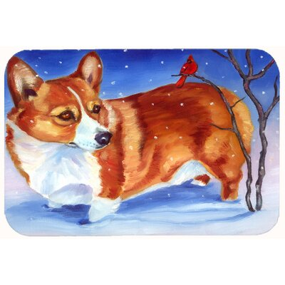 Corgi Cardinal Buddy Kitchen/Bath Mat Size: 24 W x 36 L