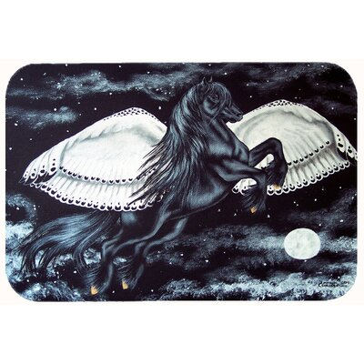Flying Horse Kitchen/Bath Mat Size: 24 W x 36 L