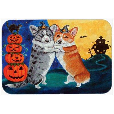 Corgi Halloween Scare Kitchen/Bath Mat Size: 20 W x 30 L
