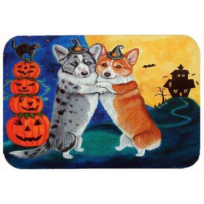 Corgi Halloween Scare Kitchen/Bath Mat Size: 24
