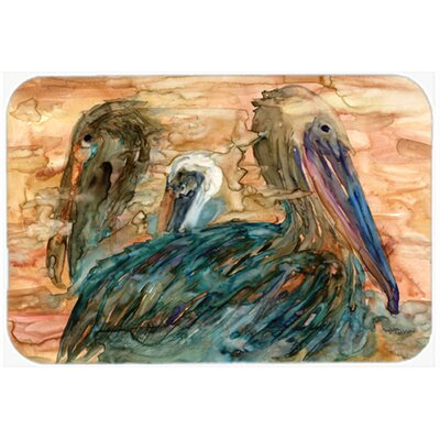 Abstract Pelicans Kitchen/Bath Mat Size: 20 W x 30 L