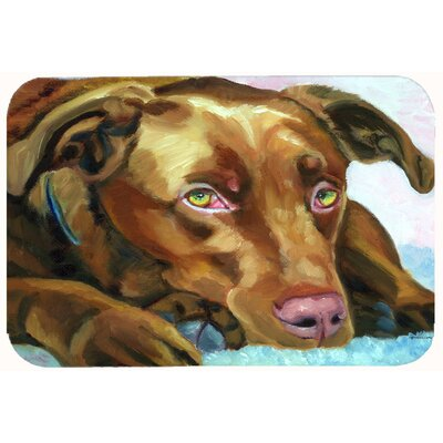 Labrador Waiting Kitchen/Bath Mat Size: 24