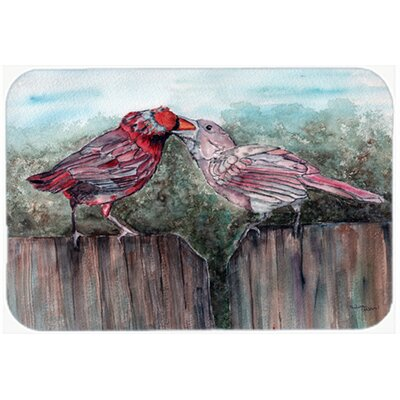 Bird Feeding Kitchen/Bath Mat Size: 20 W x 30 L
