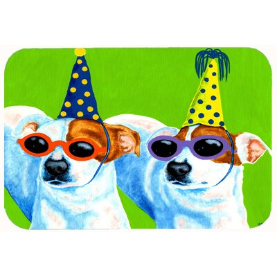 Party Animals Jack Russell Terriers Kitchen/Bath Mat Size: 24 W x 36 L