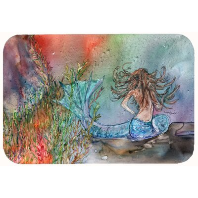 Brunette Mermaid Water Fantasy Kitchen/Bath Mat Size: 24 W x 36 L