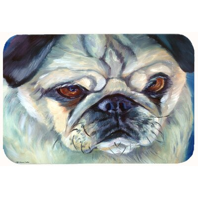 Pug in Thought Kitchen/Bath Mat Size: 24