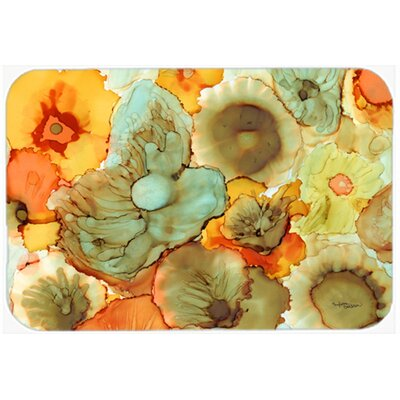 Abstract Flowers Kitchen/Bath Mat Size: 20 W x 30 L