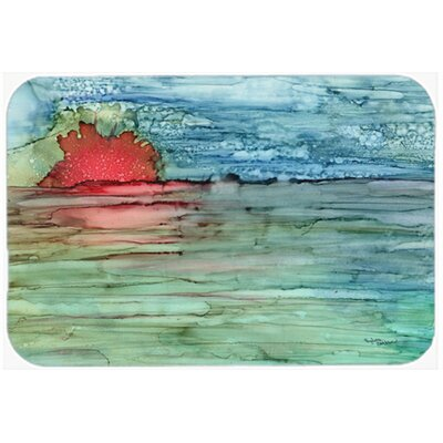 Abstract Sunset on the Water Kitchen/Bath Mat Size: 20