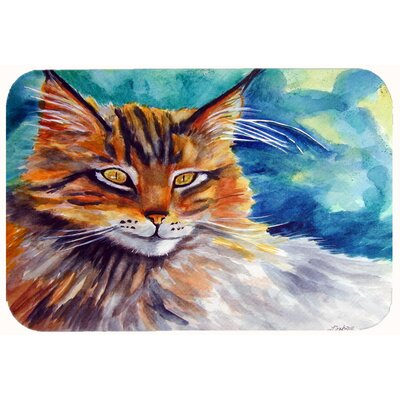 Cat Watching You Kitchen/Bath Mat Size: 24 W x 36 L