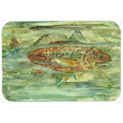 Abstract Fish Kitchen/Bath Mat Size: 20 W x 30 L