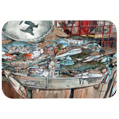 Basket Full of Crabs Kitchen/Bath Mat Size: 24 W x 36 L