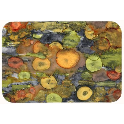 Abstract with Mother Earth Kitchen/Bath Mat Size: 24 W x 36 L