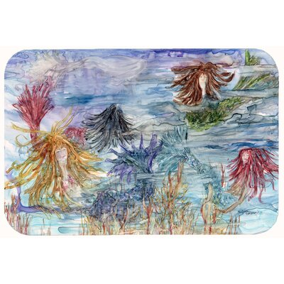 Abstract Mermaid Water Fantasy Kitchen/Bath Mat Size: 24 W x 36 L