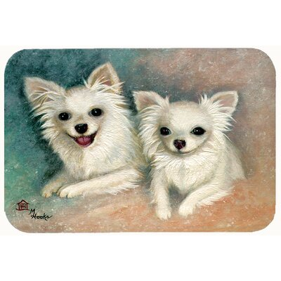 Chihuahua The Siblings Kitchen/Bath Mat Size: 24 W x 36 L