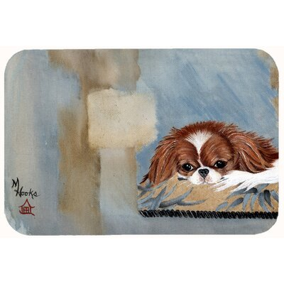 Japanese Chin Resting Kitchen/Bath Mat Size: 20 W x 30 L