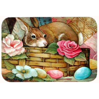 A Touch of Color Rabbit Easter Kitchen/Bath Mat Size: 24 W x 36 L