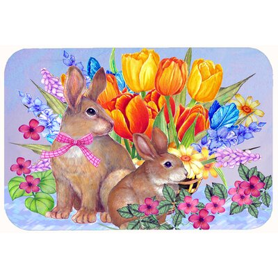 New Beginnings II Easter Rabbit Kitchen/Bath Mat Size: 24 W x 36 L