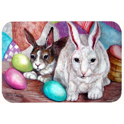 Buddy Buddies Easter Rabbit Kitchen/Bath Mat Size: 24 W x 36 L