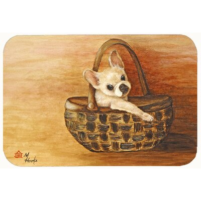 French Bulldog Take me Too Kitchen/Bath Mat Size: 24 W x 36 L