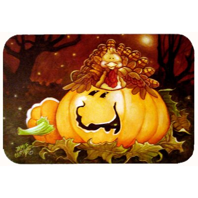 Somebody to Love Pumpkin Halloween Kitchen/Bath Mat Size: 24 W x 36 L
