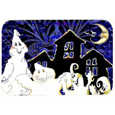 The Gangs All Here Ghosts Halloween Kitchen/Bath Mat Size: 24 W x 36 L