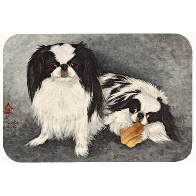 Japanese Chin Impress Kitchen/Bath Mat Size: 24 W x 36 L