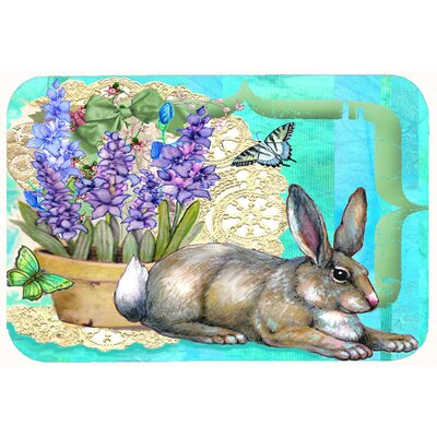 Justin Easter Rabbit Kitchen/Bath Mat Size: 24 W x 36 L