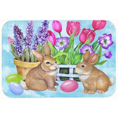 New Beginnings Easter Rabbit Kitchen/Bath Mat Size: 20 W x 30 L