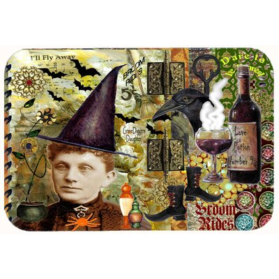 Broom Rides and Spells Halloween Kitchen/Bath Mat Size: 24 W x 36 L