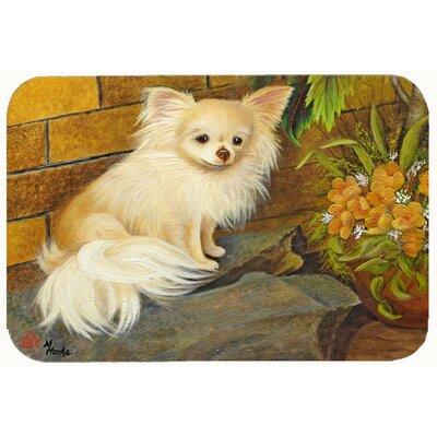 Chihuahua Just Basking Kitchen/Bath Mat Size: 24 W x 36 L