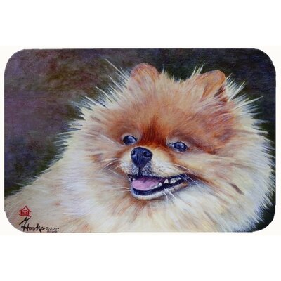 Pomeranian Head Kitchen/Bath Mat Size: 20 W x 30 L