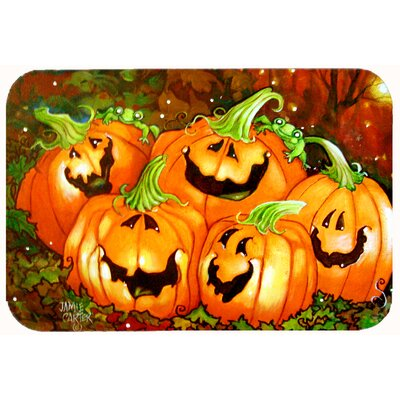 Such a Glowing Personality Pumpkin Halloween Kitchen/Bath Mat Size: 24 W x 36 L