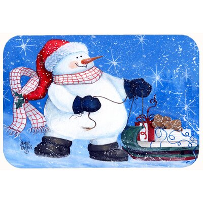 My Friends Can Ride Too Snowman Kitchen/Bath Mat Size: 24 W x 36 L