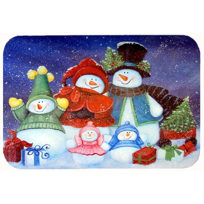 Merry Christmas from Us All Snowman Kitchen/Bath Mat Size: 24 W x 36 L
