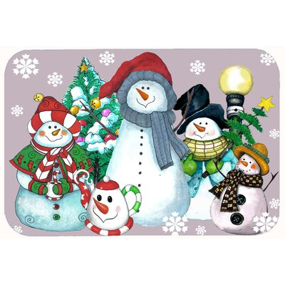 Snowman for the Holidays Kitchen/Bath Mat Size: 24