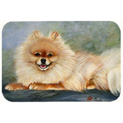 Pomeranian Full Body Kitchen/Bath Mat Size: 20