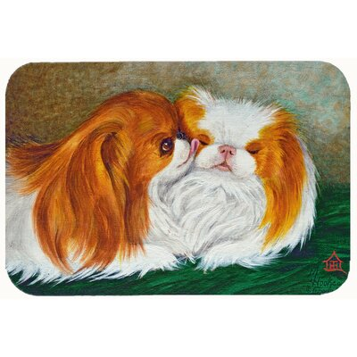 Japanese Chin Best Friends Kitchen/Bath Mat Size: 24 W x 36 L
