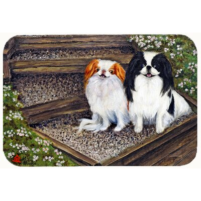Japanese Chin Daddys Girls Kitchen/Bath Mat Size: 20 W x 30 L