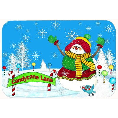 Candy Cane Lane Snowman Kitchen/Bath Mat Size: 20 W x 30 L