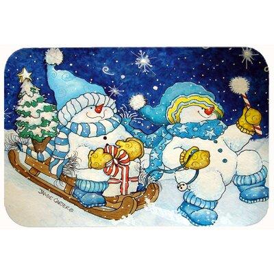 Celebrate the Season of Wonder Snowman Kitchen/Bath Mat Size: 20 W x 30 L
