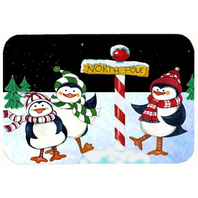 North Pole Welcomes You Penguins Kitchen/Bath Mat Size: 24 W x 36 L