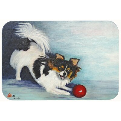 Chihuahua Play Ball Kitchen/Bath Mat Size: 20 W x 30 L