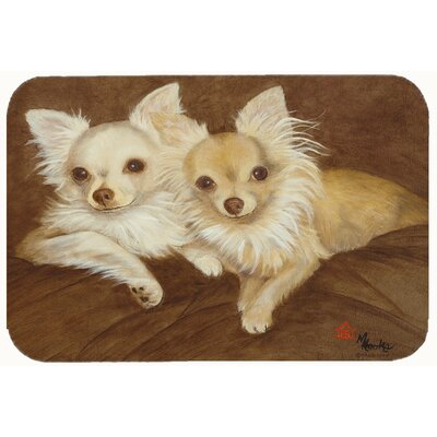 Chihuahua for the Pair Kitchen/Bath Mat Size: 24
