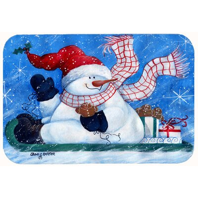 Come Ride with Me Snowman Kitchen/Bath Mat Size: 24 W x 36 L
