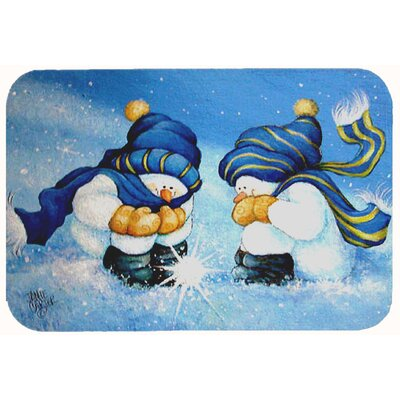 We Believe in Magic Snowman Kitchen/Bath Mat Size: 24 W x 36 L