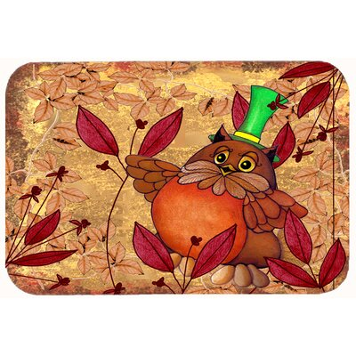 Hootie Fall Owl Kitchen/Bath Mat Size: 20 W x 30 L