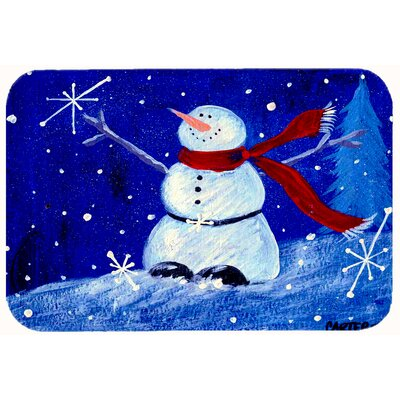 Happy Holidays Snowman Kitchen/Bath Mat Size: 20