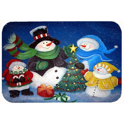The Family Gathering Snowman Kitchen/Bath Mat Size: 24 W x 36 L